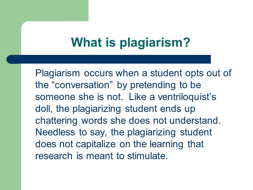What makes an instructor suspect that YOU plagiarized.