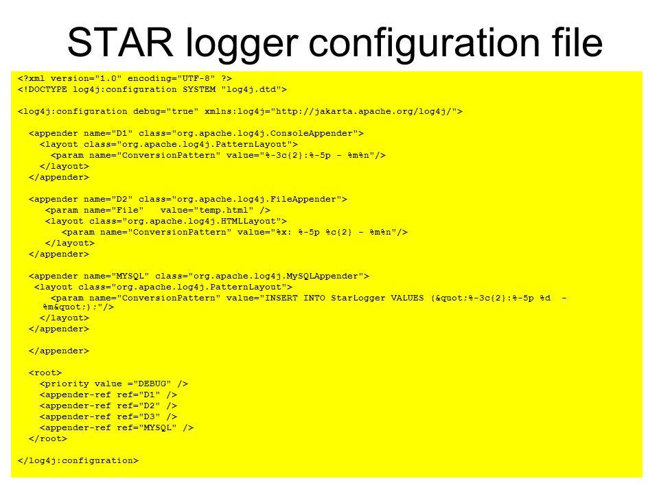 12 STAR logger configuration file