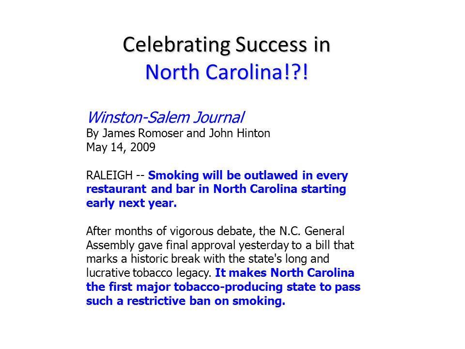 Celebrating Success in North Carolina! .