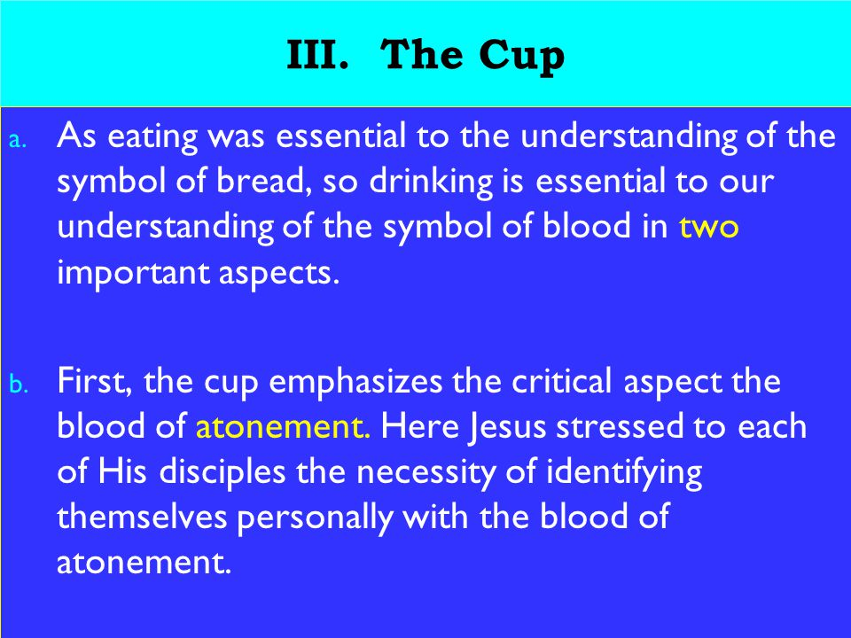 17 III. The Cup a.