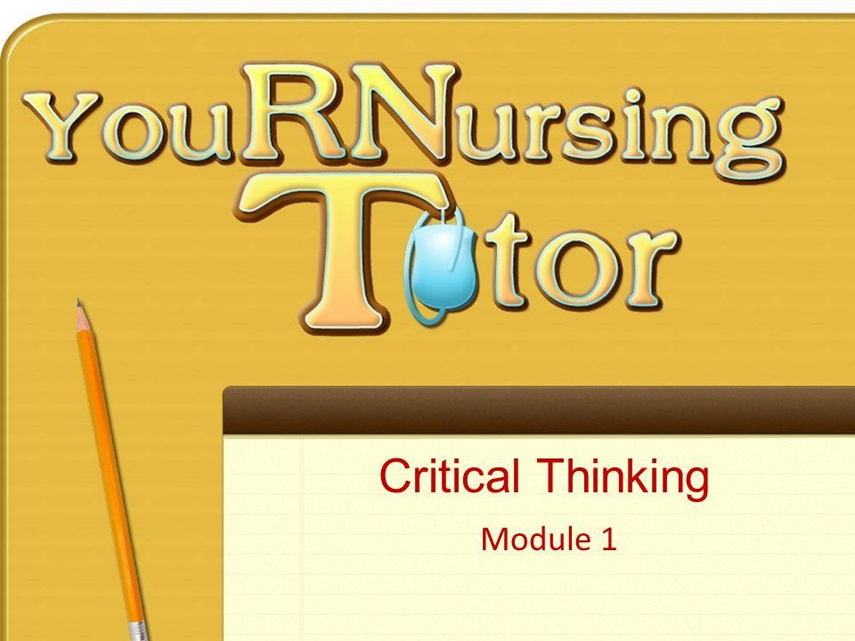 Critical Thinking Module 1
