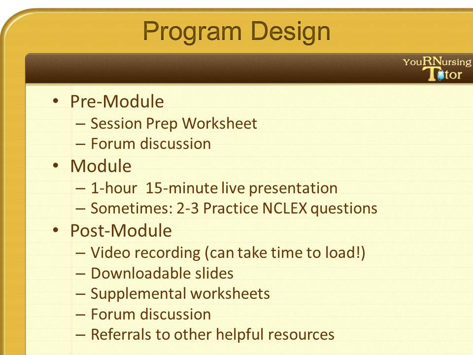 Critical Thinking Module 1. Pre-Module – Session Prep Worksheet ...