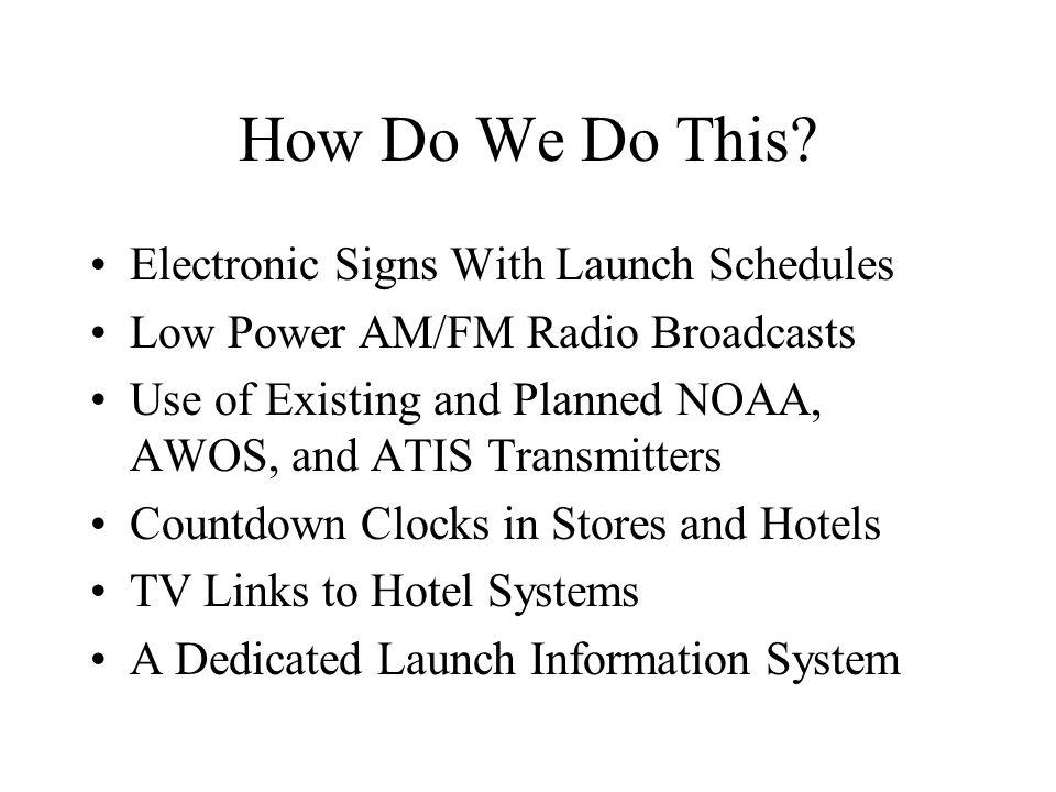 How Do We Do This.