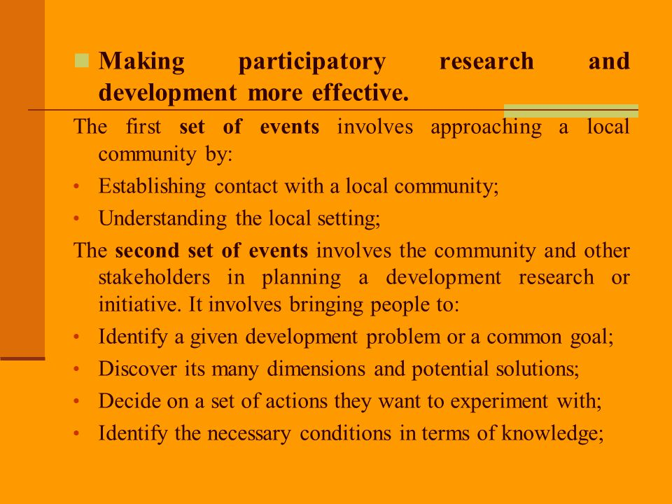 The third set of events consists of developing a communication strategy.