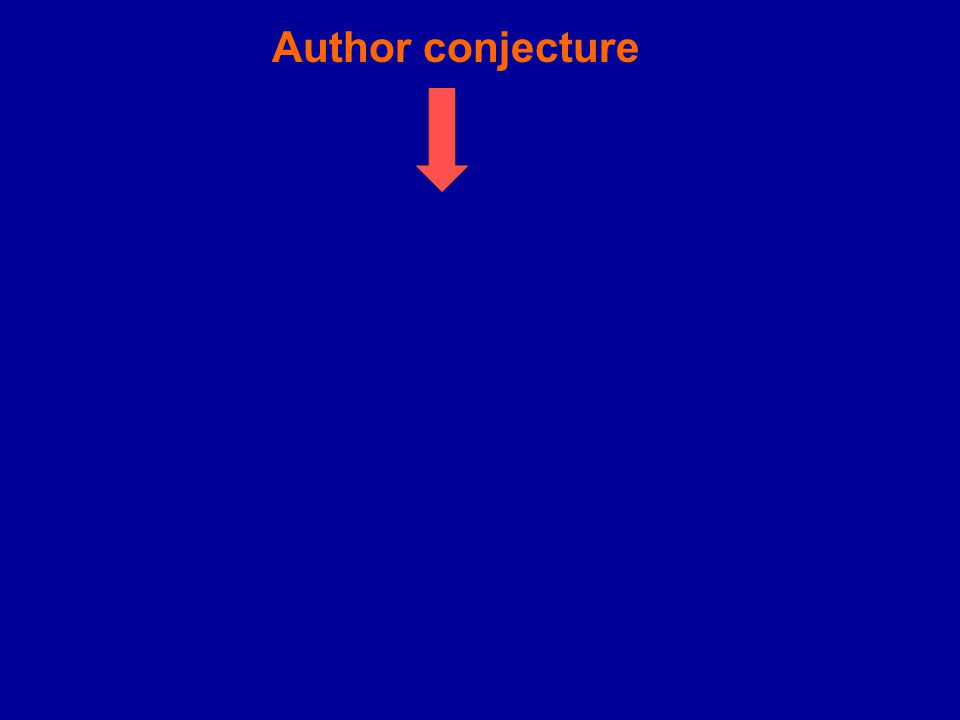Author conjecture