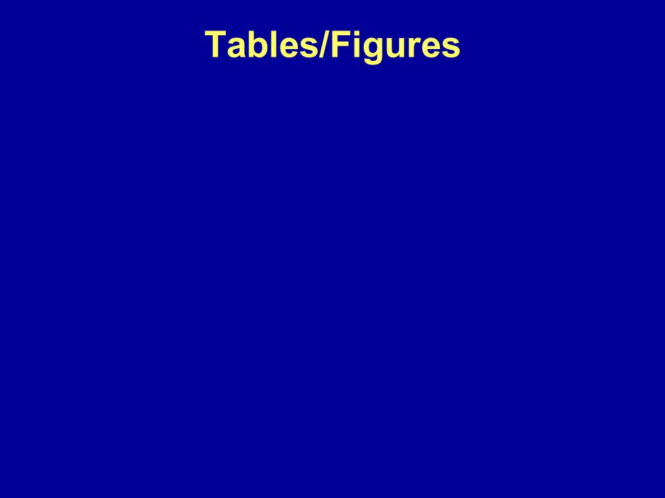 Tables/Figures