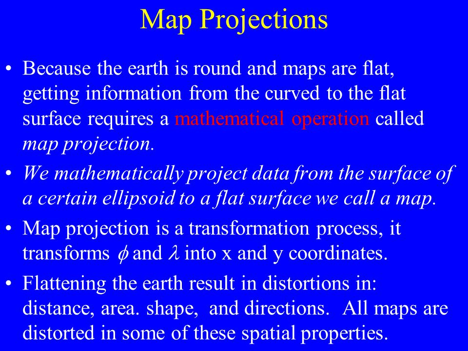 The locations of map features are referenced to actual locations of the objects they represent in the real world. The positions of objects on the eart
