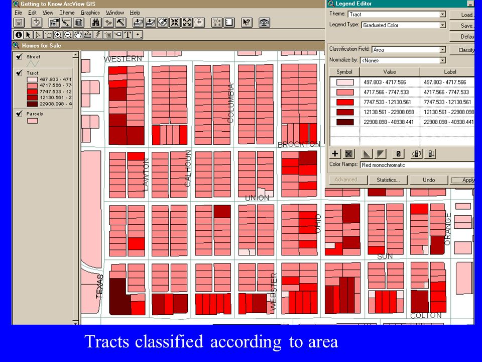Tracts classified according to roof type