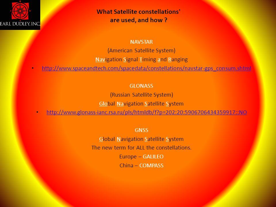 NAVSTAR (American Satellite System) Navigation Signal Timing and Ranging http://www.spaceandtech.com/spacedata/constellations/navstar-gps_consum.shtml