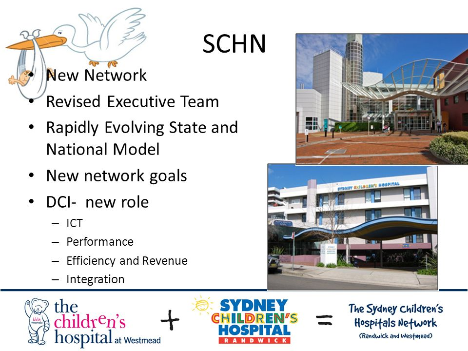 SCHN New Network Revised Executive Team Rapidly Evolving State and National Model New network goals DCI- new role – ICT – Performance – Efficiency and