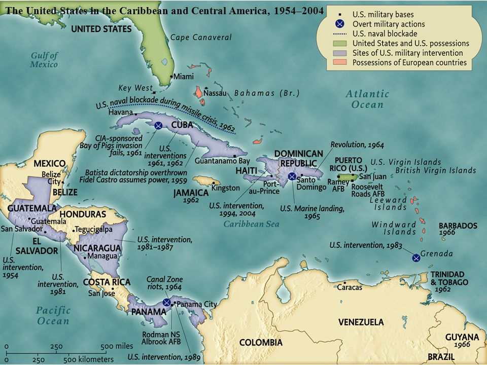 The United States in the Caribbean and Central America, 1954– 2004 pg.