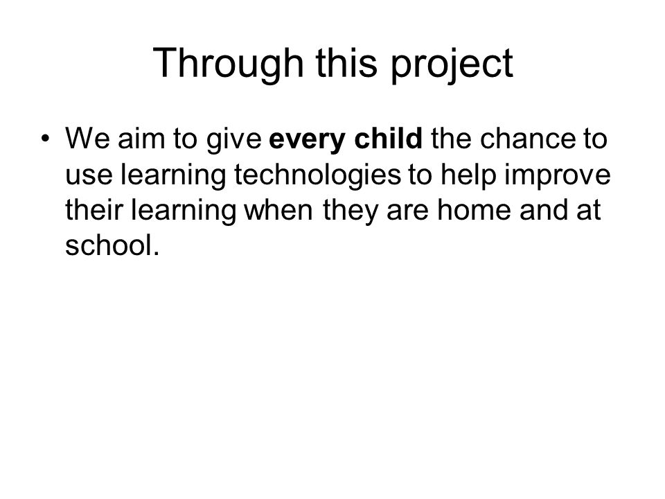 How will our children benefit from more access to a computer at home and at school.