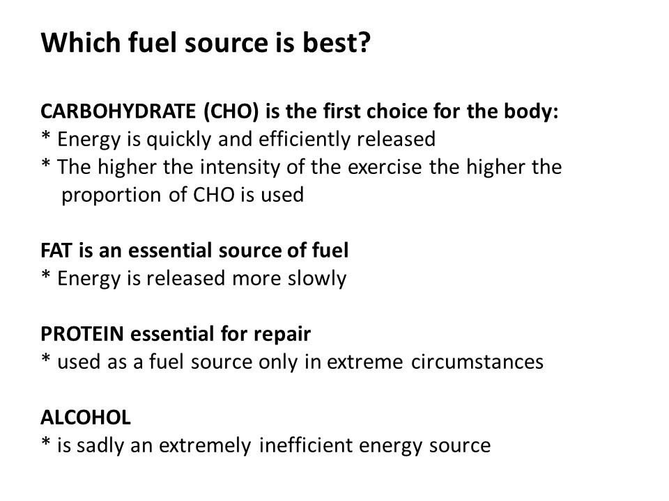 Which fuel source is best.