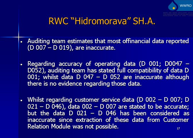 17 RWC Hidromorava SH.A.