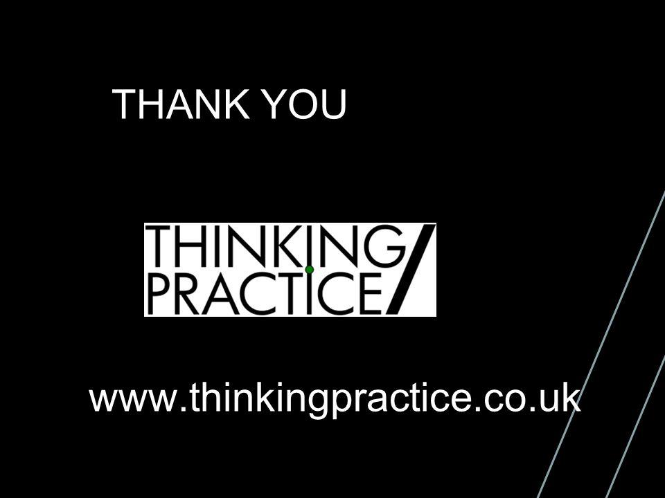 THANK YOU www.thinkingpractice.co.uk