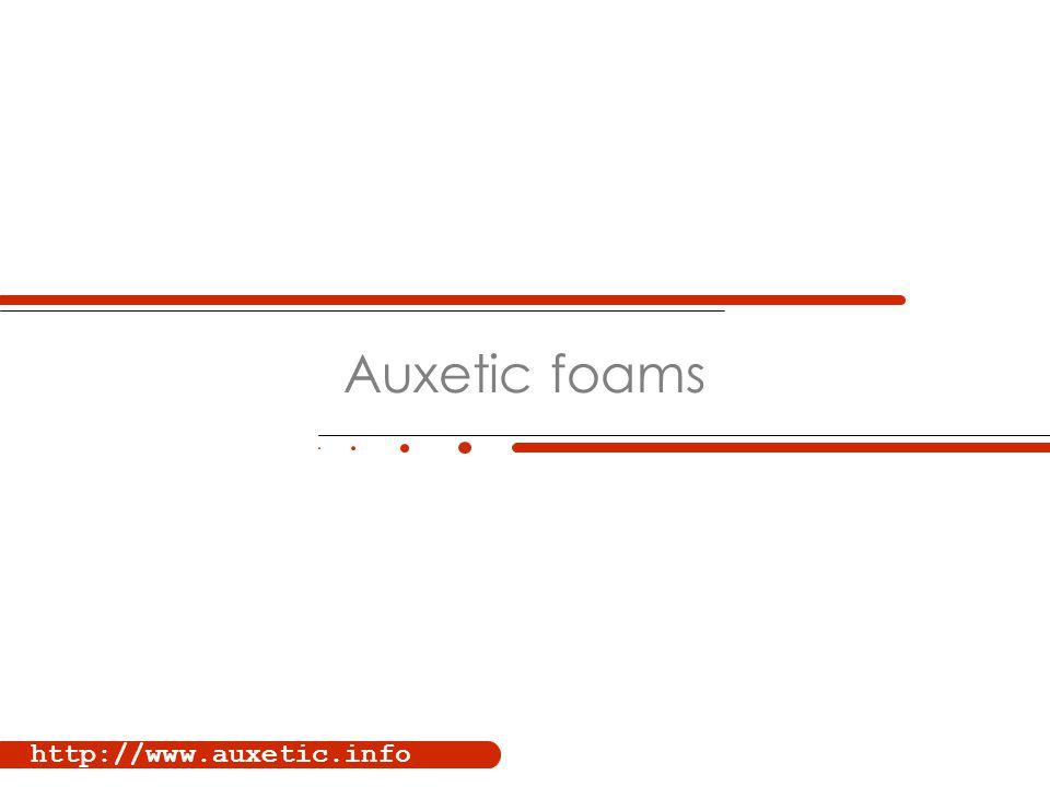 http://www.auxetic.info Auxetic foams