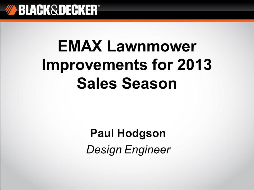 EMAX42 5. Switchbox / Handle Improvements 6. Transmission Improvements (motor, belt, housings) 12