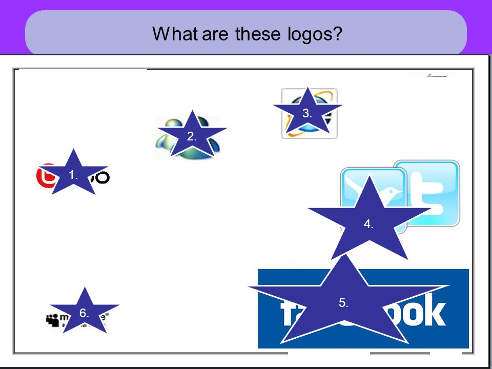 What are these logos? 1. 2. 3. 5. 4. 6.