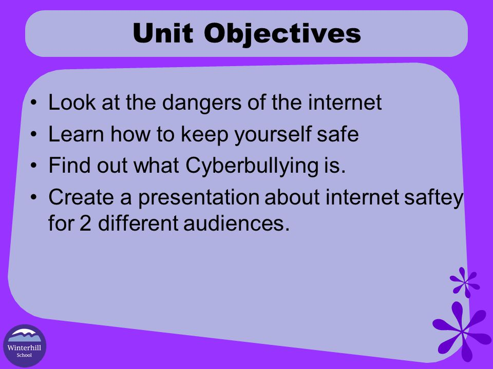 Today s Objective We Are Learning To; Keep ourselves safe whilst using the internet What I'm Looking For; List possible threats on the internet (4c/4b) Can explain how we can protect ourselves from threats on the internet (4a) Can offer some advice to someone on how to stay safe on the internet(5c)