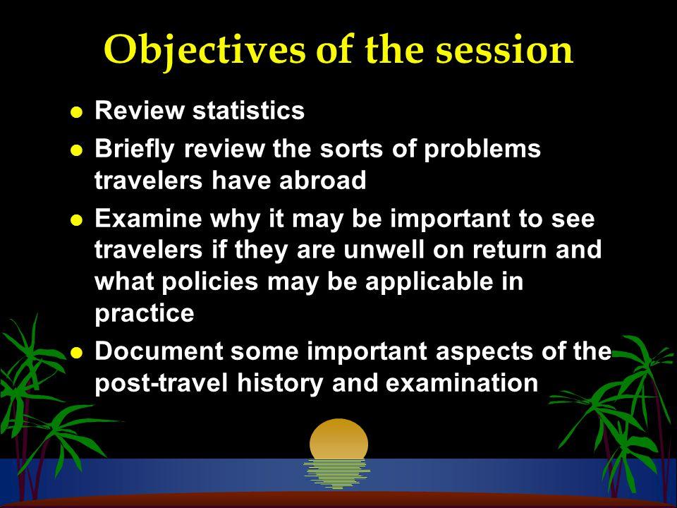Post-travel Consultation l History l Examination l Investigations