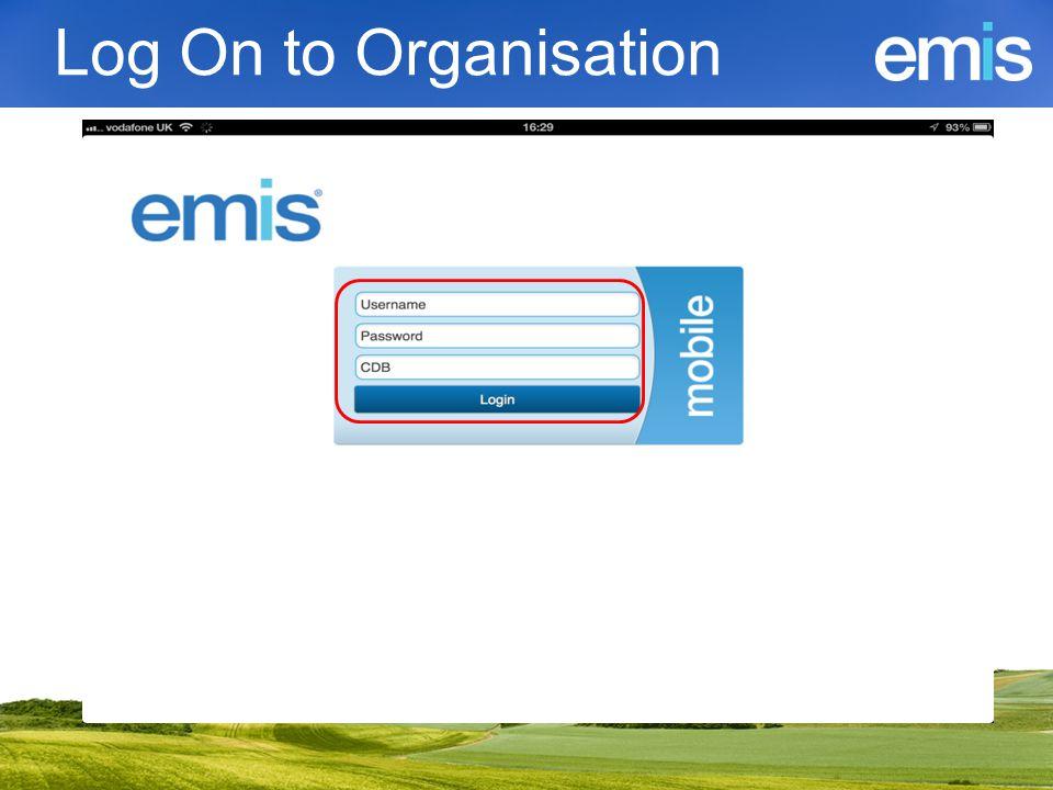 Log On to Organisation