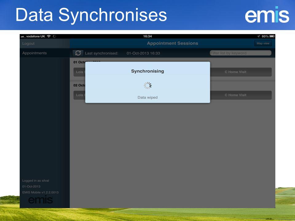 Data Synchronises