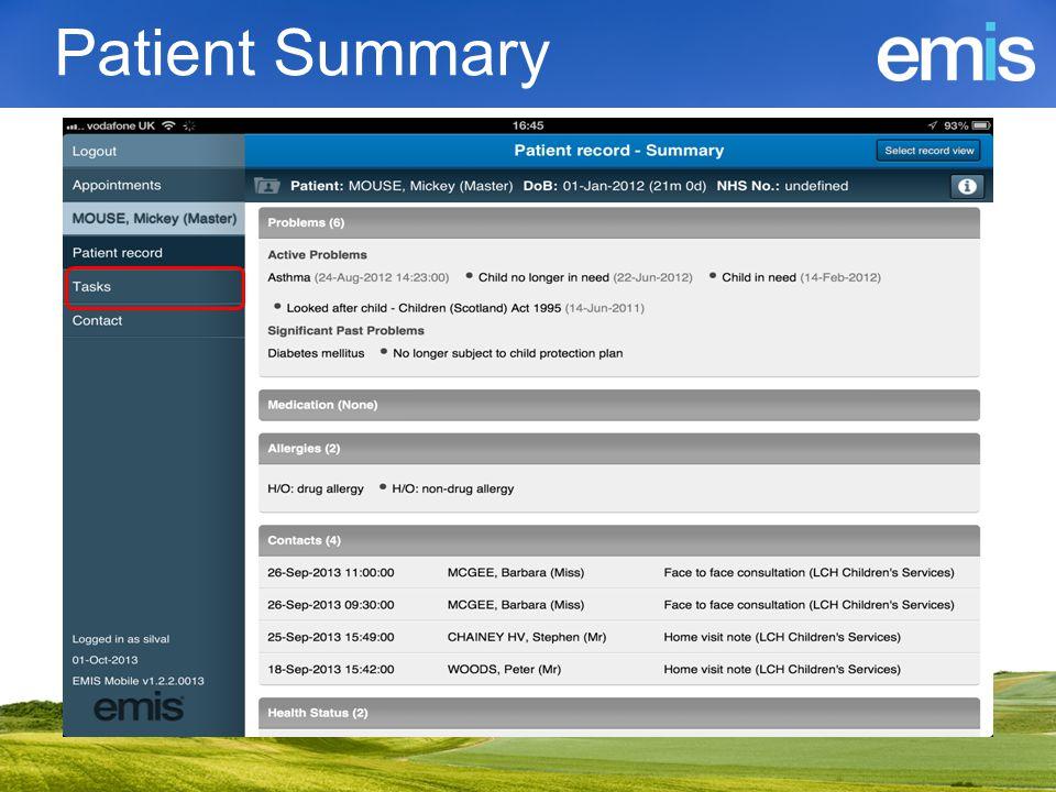 Patient Summary