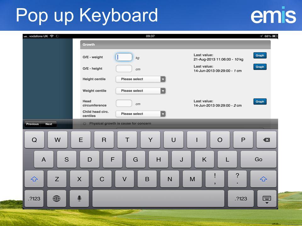 Pop up Keyboard