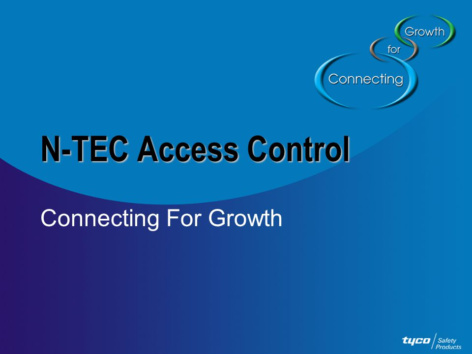 N-TEC Access Control Connecting For Growth