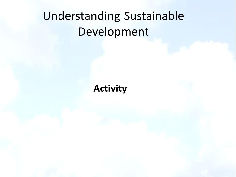 Activity Understanding Sustainable Development