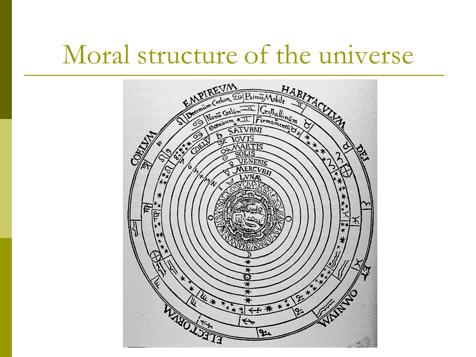 Moral structure of the universe