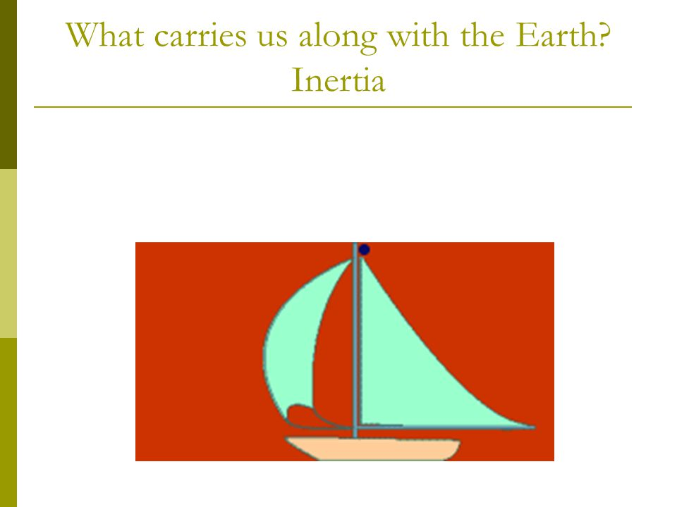 What carries us along with the Earth? Inertia