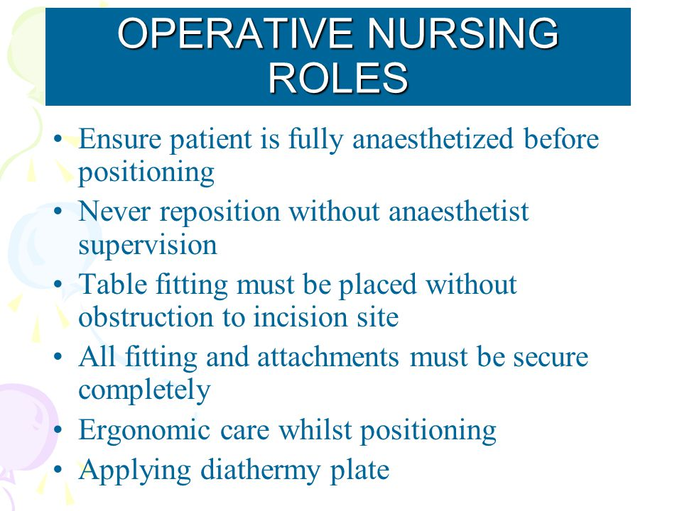 Ensure patient is fully anaesthetized before positioning Never reposition without anaesthetist supervision Table fitting must be placed without obstru
