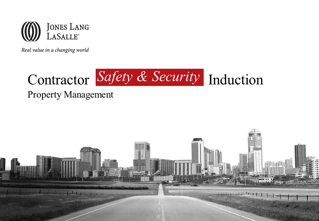 Introduction Roles of Jones Lang LaSalle Essential Processes to Follow Before Work Commences Essential Documents to Submit Before Work Commences Emergency Contact Details House Rules Emergency Handling Evacuation Agenda