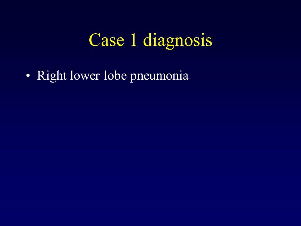 Case 1 diagnosis Right lower lobe pneumonia