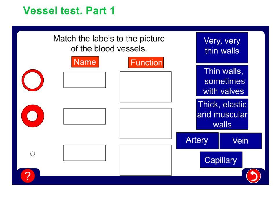 Vessel test. Part 1
