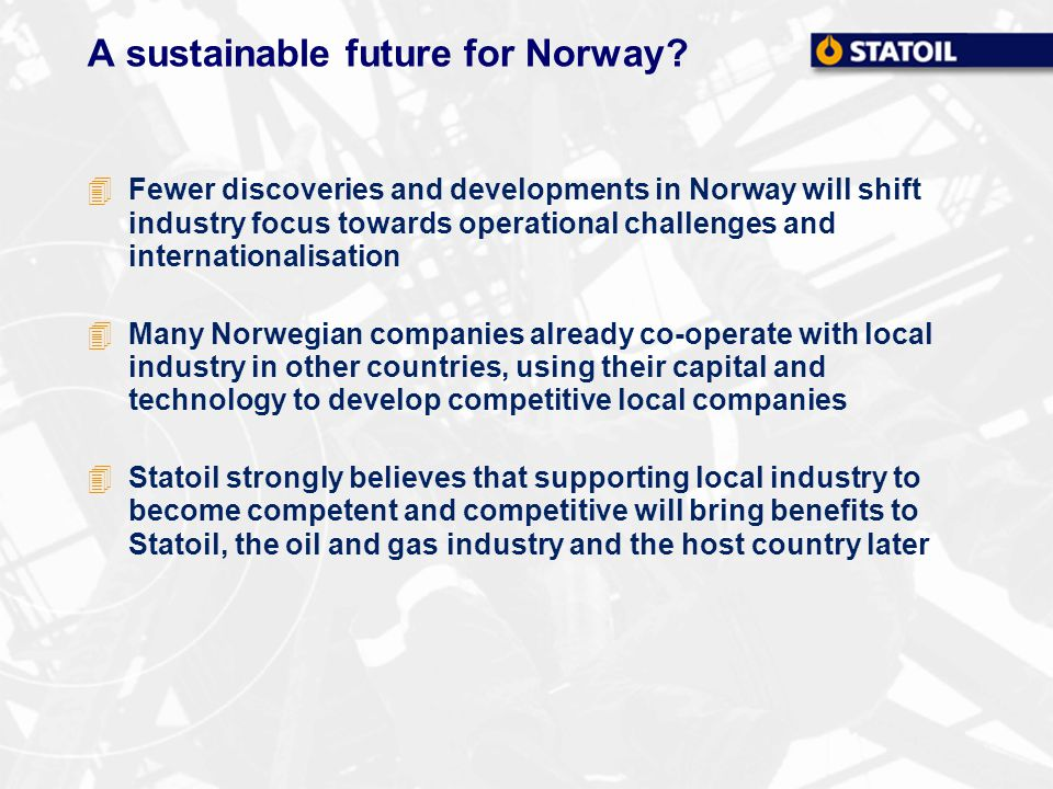 A sustainable future for Norway.