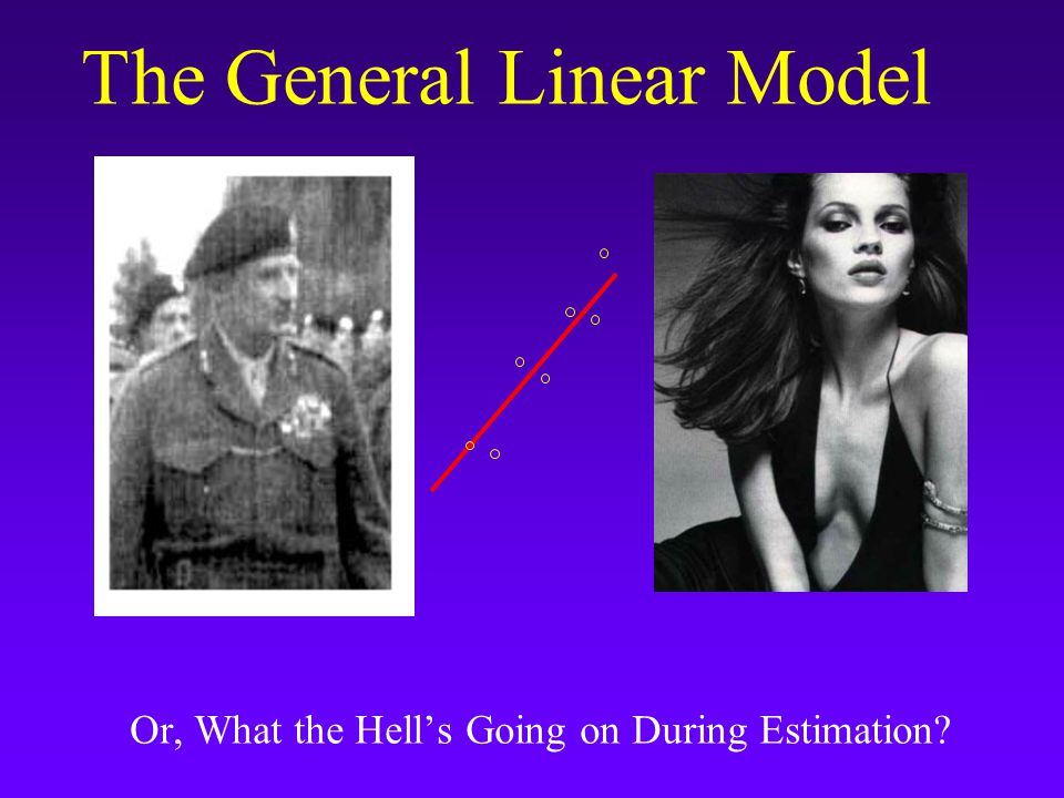 The General Linear Model Or, What the Hell's Going on During Estimation