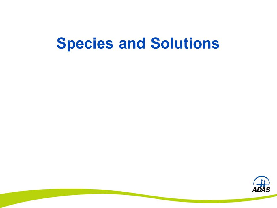 Species and Solutions