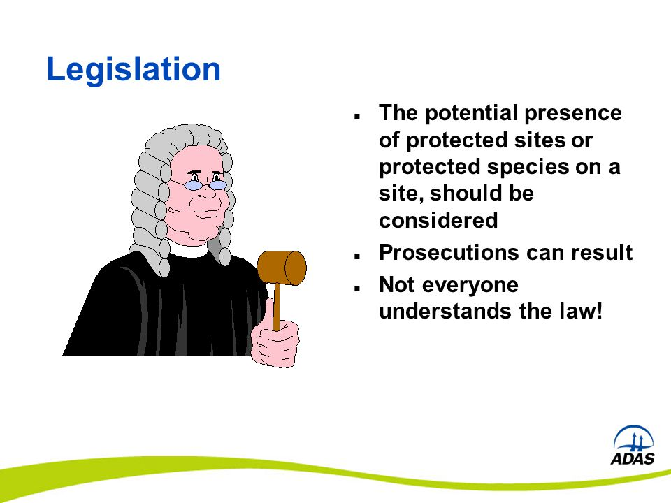 Legislation / Duties Pests Act 1954 Forestry Act 1967 (Felling Licence) Wildlife & Countryside Act 1981 (as amended ) Town & Country Planning Act 1990 (TPOs) Planning (Listed Building & Conservation Areas) Act 1990 Protection of Badgers Act 1992 Hedgerows Regulations 1997 CROW Act 2000 Natural Environment and Rural Communities Act 2006 (sites) Conservation of Habitats and Species Regulations 2010 Biodiversity Action Plan Habitats and Species