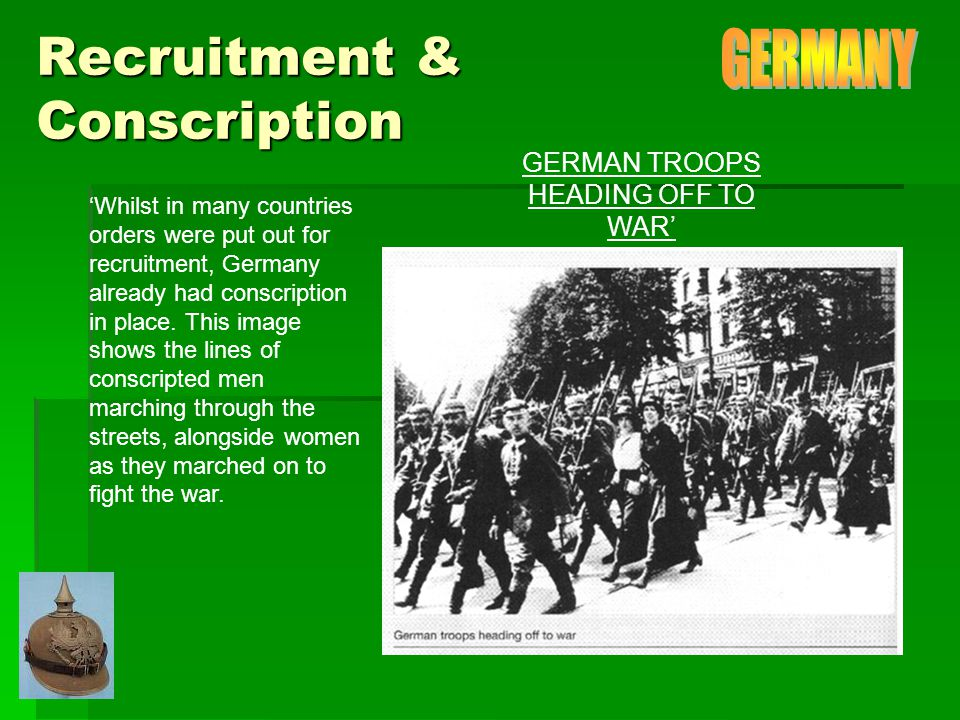Propaganda The men depicted in this photograph on the right are all conscripted German soldiers.