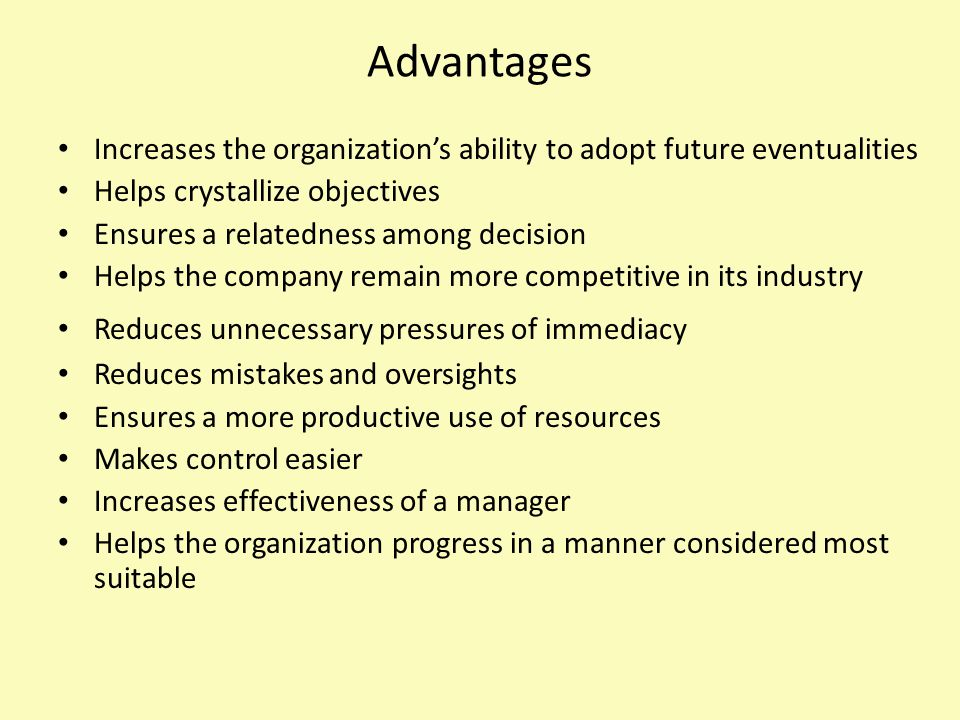 Procedures Involves a selection and establishment of a logical series of tasks within the framework of predetermined policies and objectives