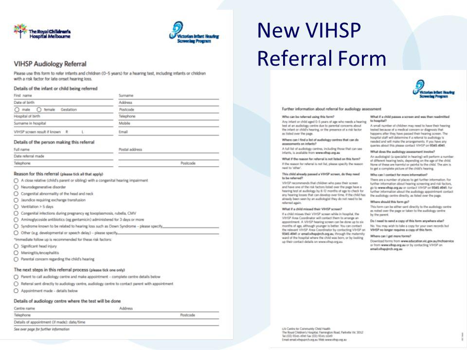 New VIHSP Referral Form