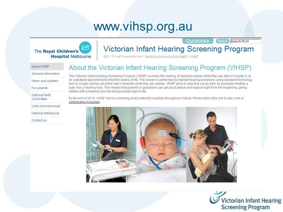 www.vihsp.org.au n Screen shot
