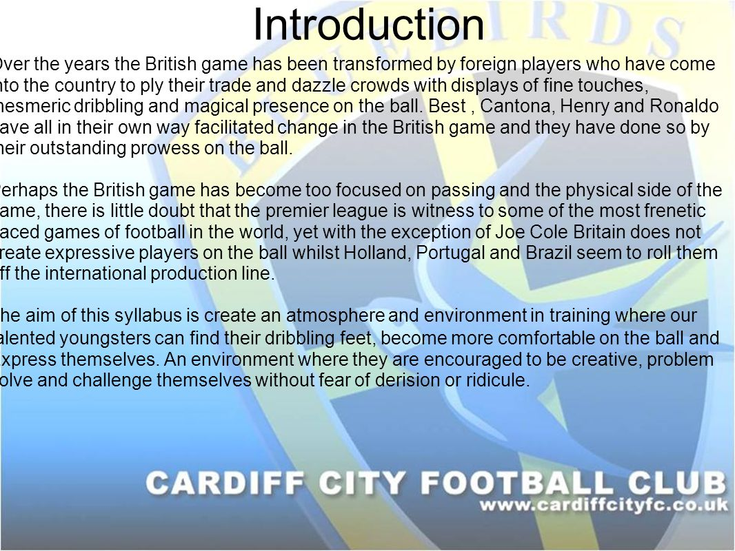 Introduction Over the years the British game has been transformed by foreign players who have come into the country to ply their trade and dazzle crow