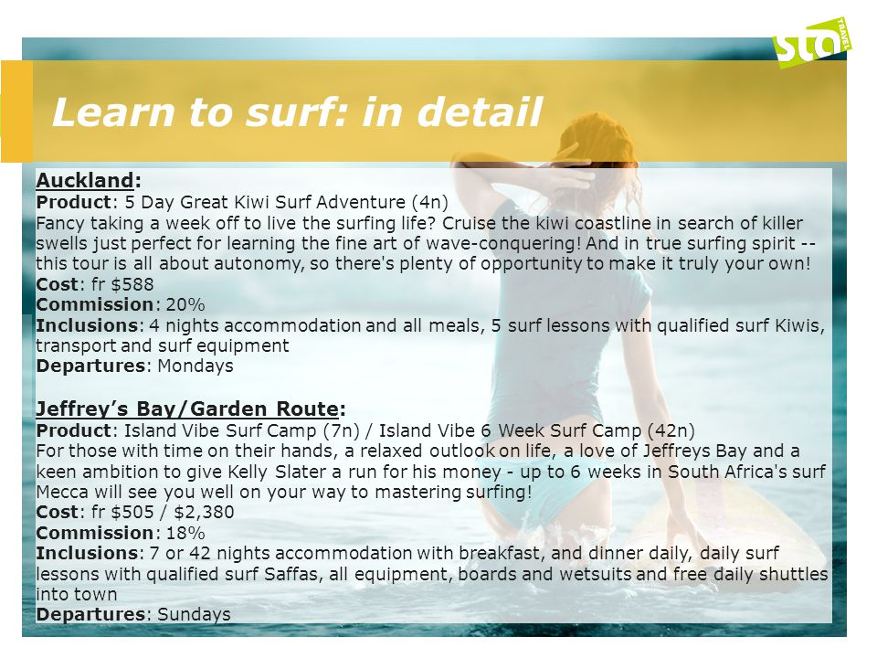 Learn to surf: in detail cont.