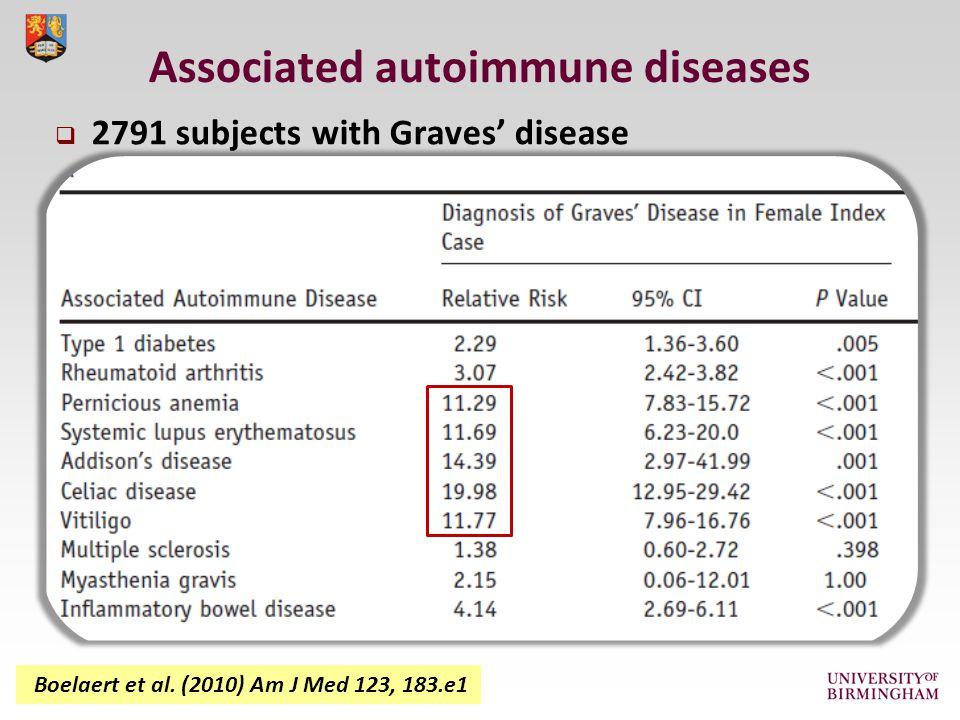 Associated autoimmune diseases Boelaert et al.