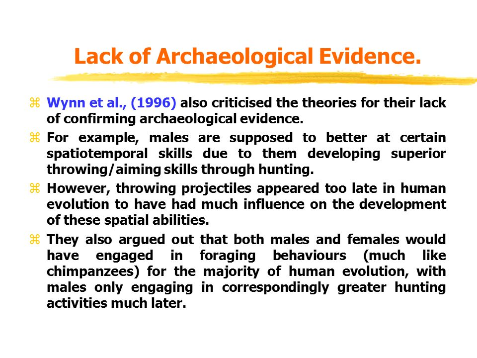 Lack of Archaeological Evidence.