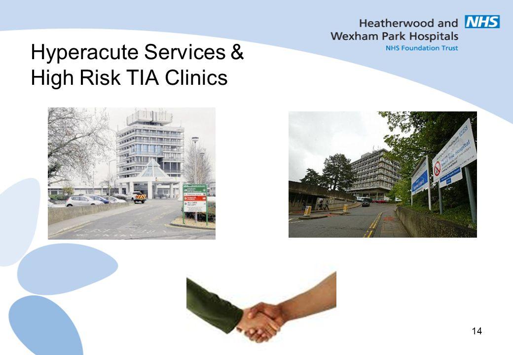 14 Hyperacute Services & High Risk TIA Clinics