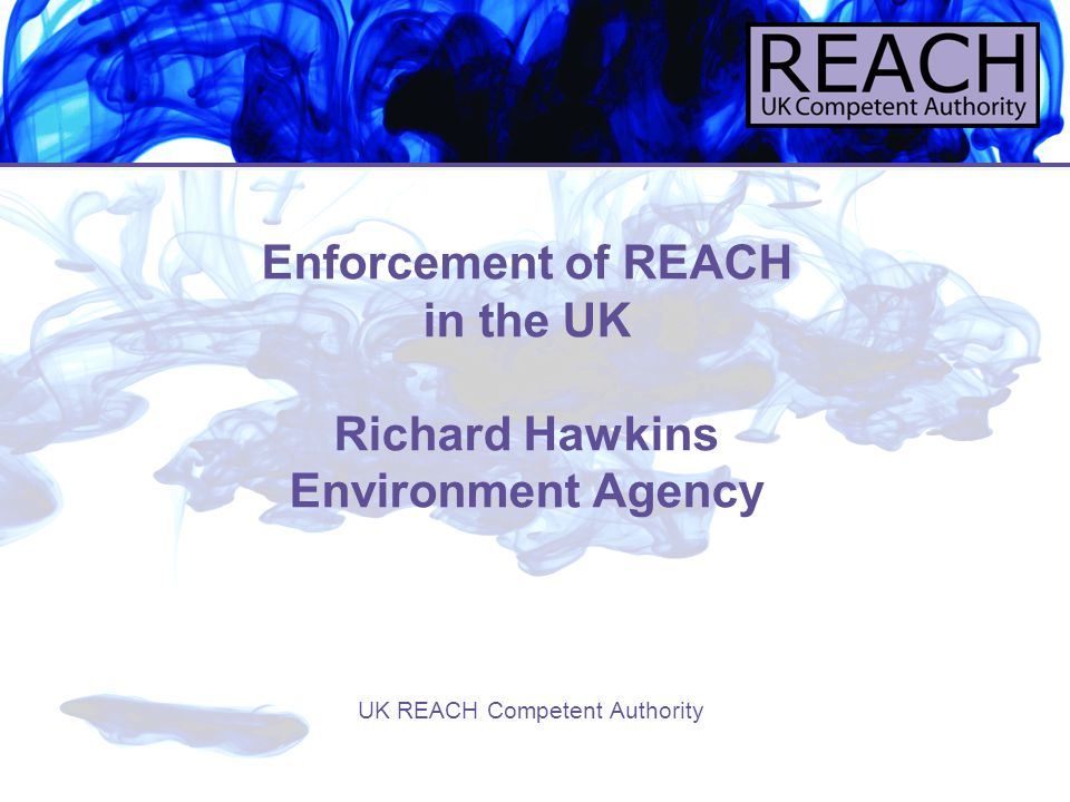 12 Enforcement where REACH and other legislation governing the use of chemicals applies: REACH and existing legislation REACH applies 'without prejudice' to existing Community workplace and environmental protection legislation Where standards differ, compliance must be achieved with the more stringent (not either/or) Examples – COSHH, PPC etc